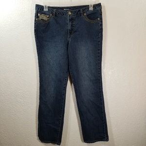 Style Co Straight Leg Jeans Plus Size 14 Embellish